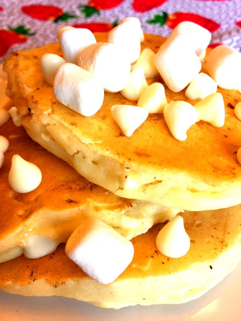 White Chocolate Chips Pancakes Easy Recipe