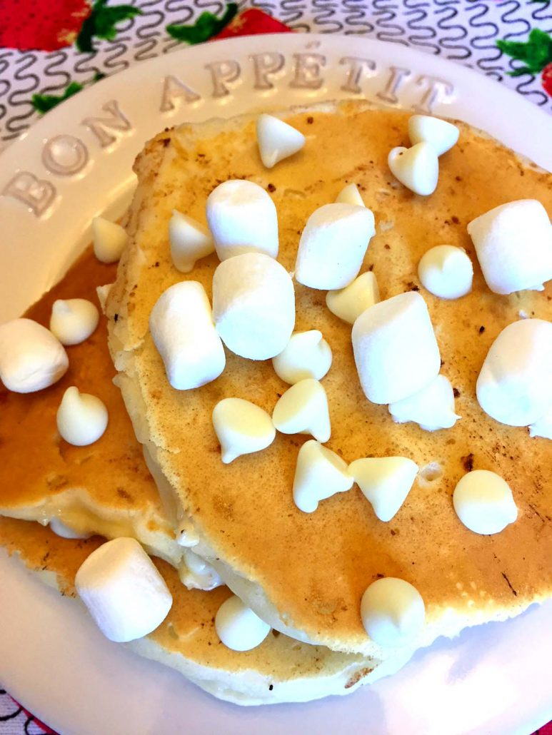 Best Ever White Chocolate Chips Mini Marshmallows Pancakes