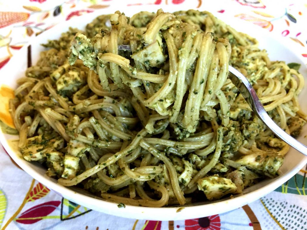How To Make Chicken Pasta With Pesto