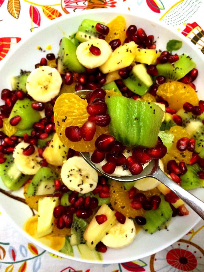 Pomegranate Winter Fruit Salad Recipe