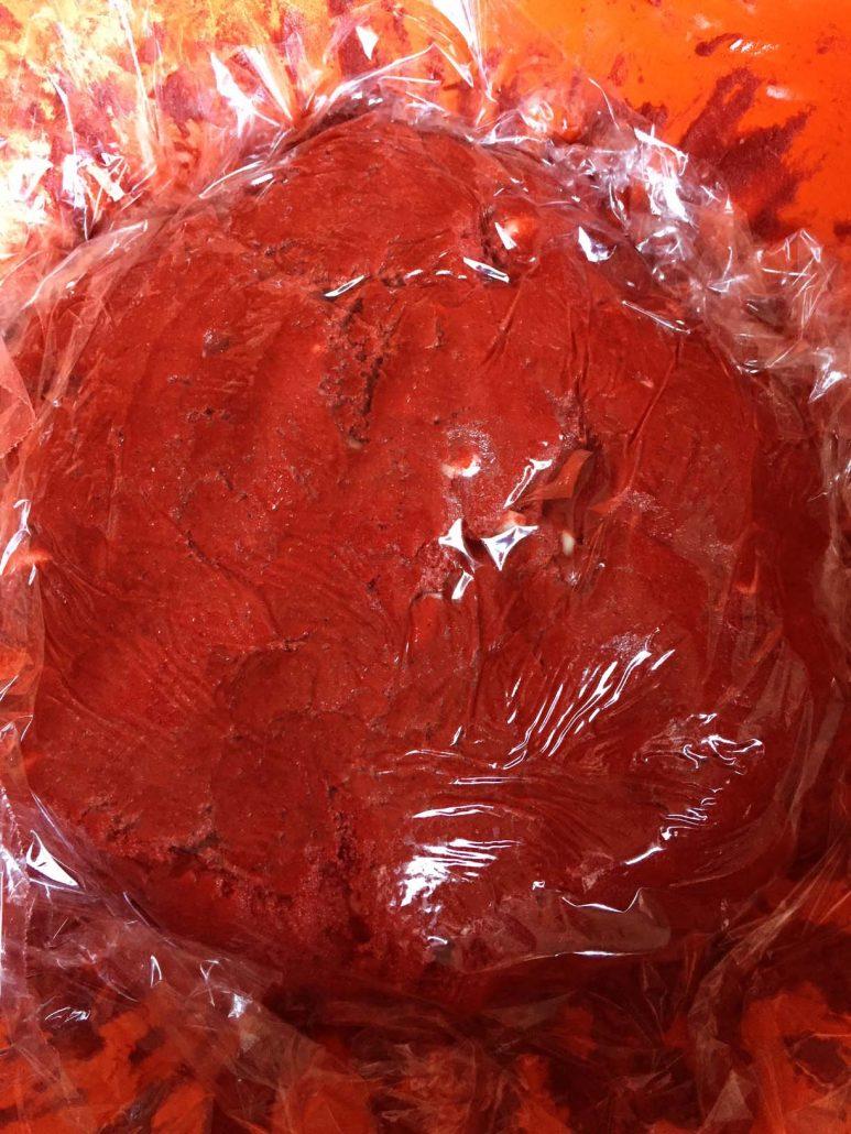Chilling Red Velvet Cookie Dough