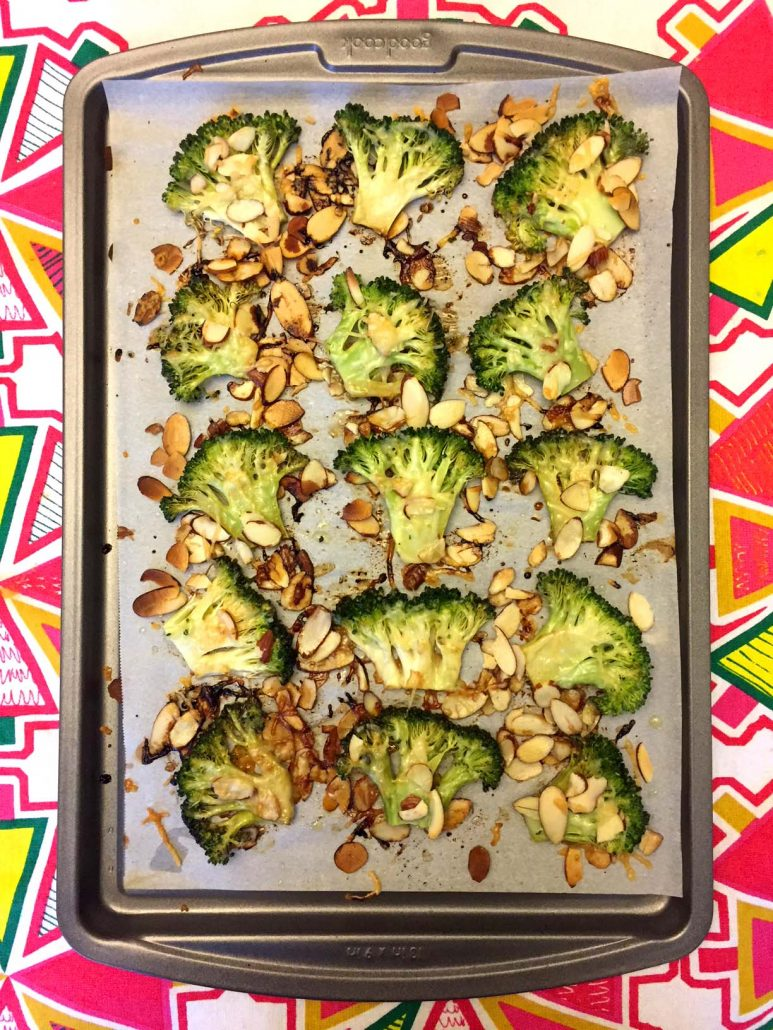 Balsamic Parmesan Oven Roasted Broccoli Recipe