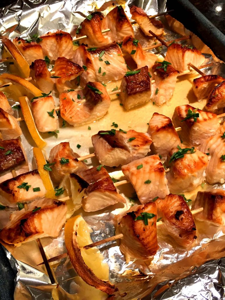 How To Make Baked Salmon Kabobs In The Oven