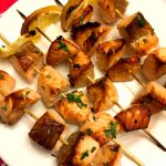 Easy Oven Baked Salmon Kabobs Skewers Recipe
