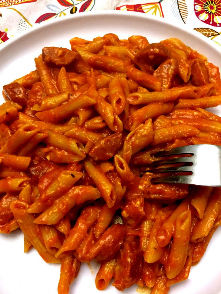 Easy Cheesy One Pot Sausage Penne Pasta Recipe