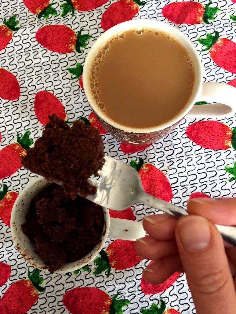 Chocolate Mug Cake And Coffee