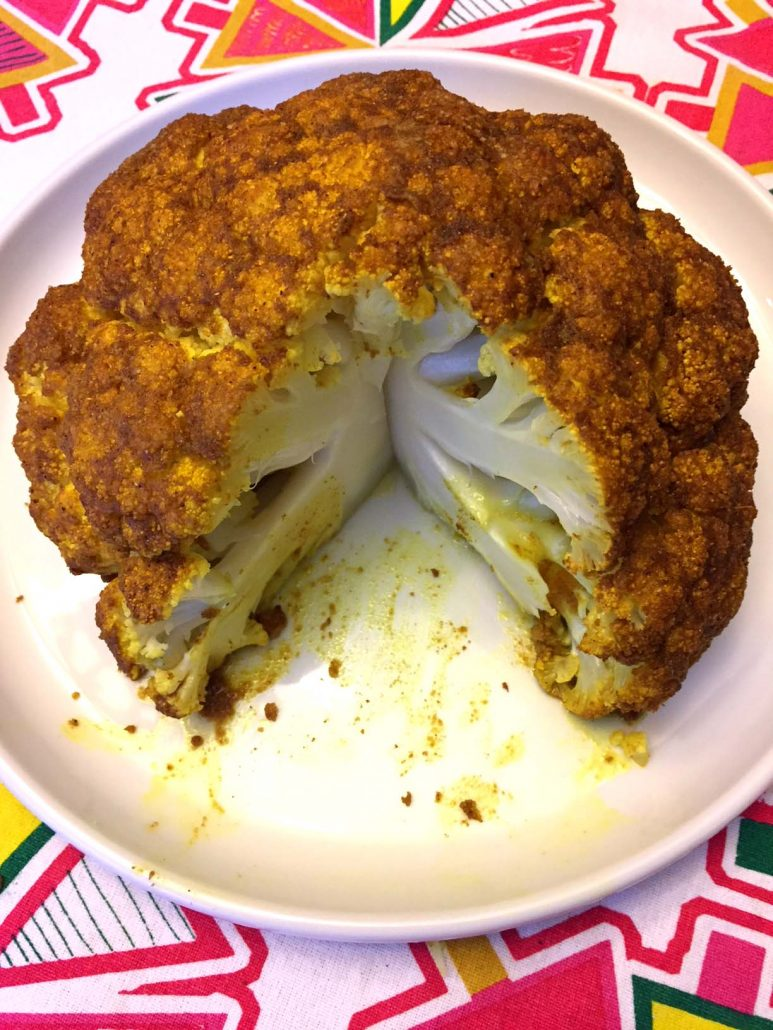 Whole Head Of Cauliflower Baked In The Oven