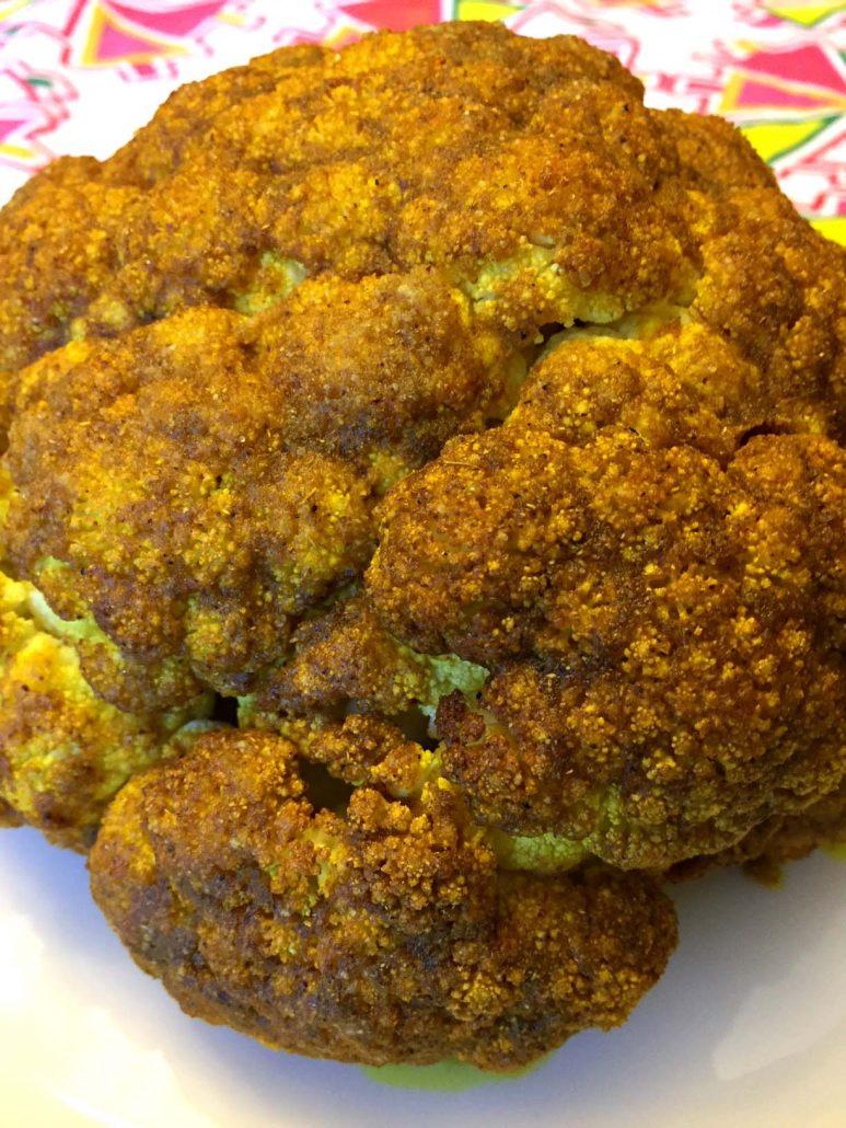 Spicy Curried Whole Cauliflower