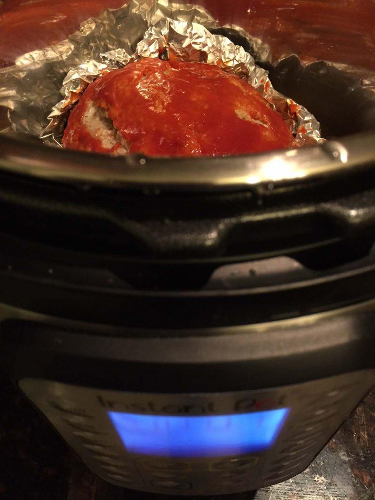 Instant Pot Meatloaf Cooking