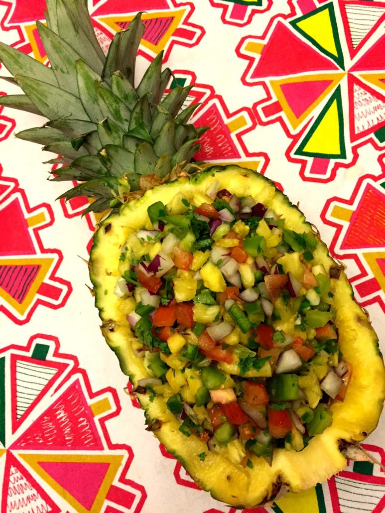 Easy Pineapple Salsa In A Pineapple Shell