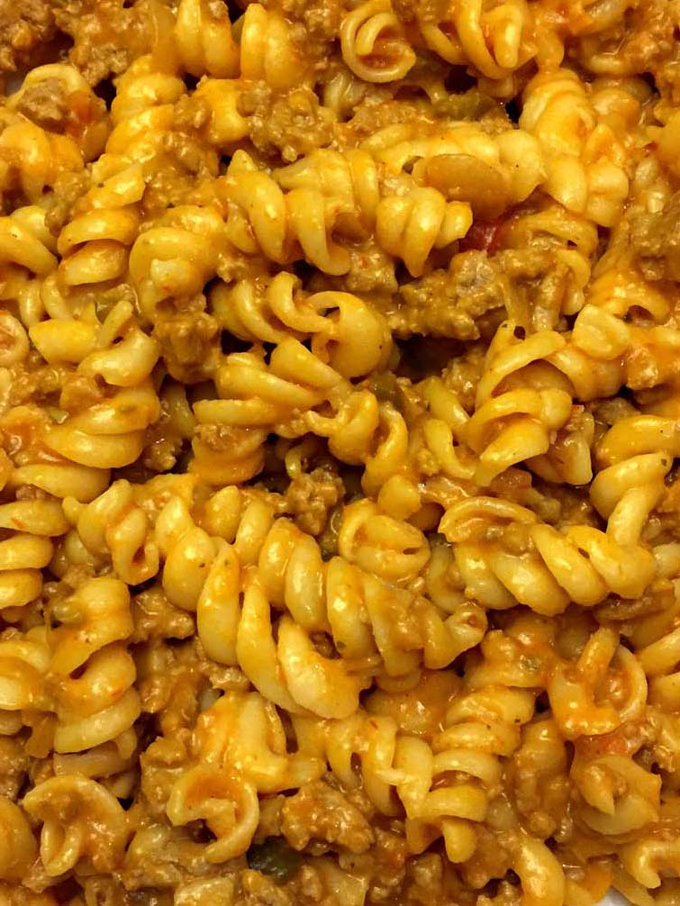 Easy Taco Pasta With Cheese