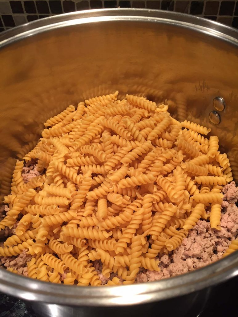 Pasta and ground turkey