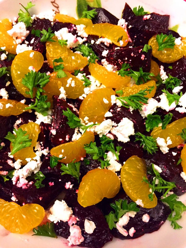 Beets With Feta And Oranges