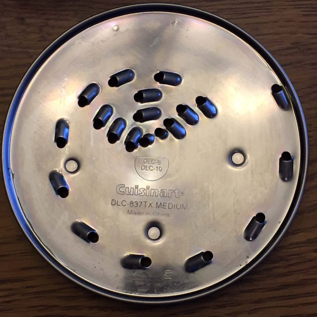 Food Processor Shredder Disk