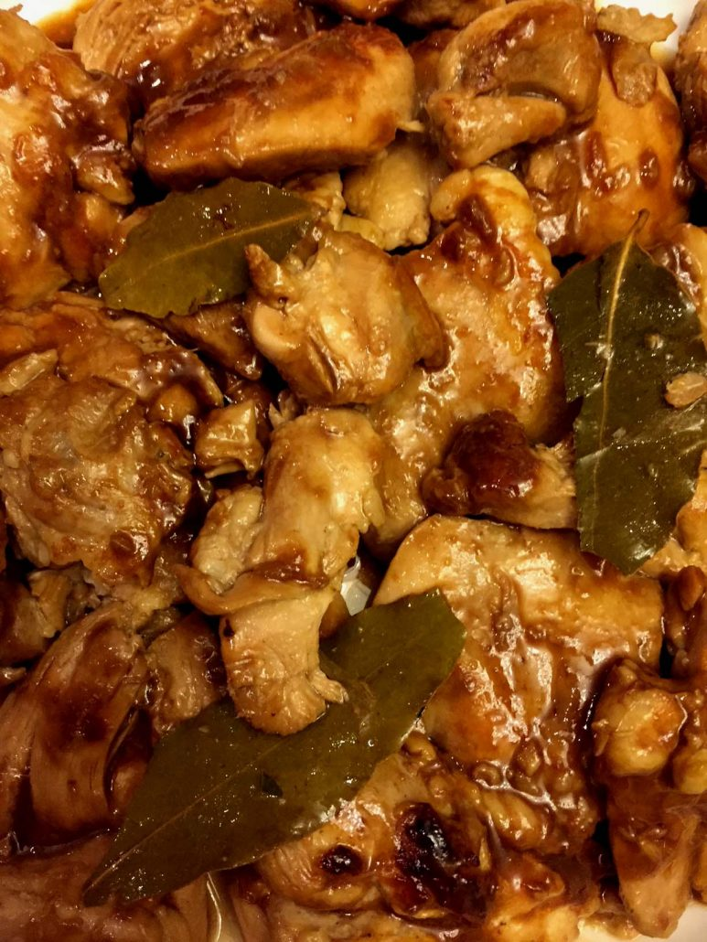 Filipino Adobo Chicken With Bay Leaves