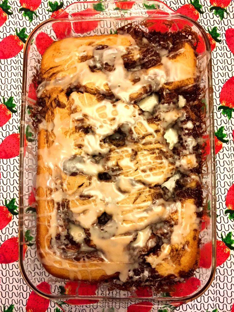 Glazed Cinnamon Roll Cake