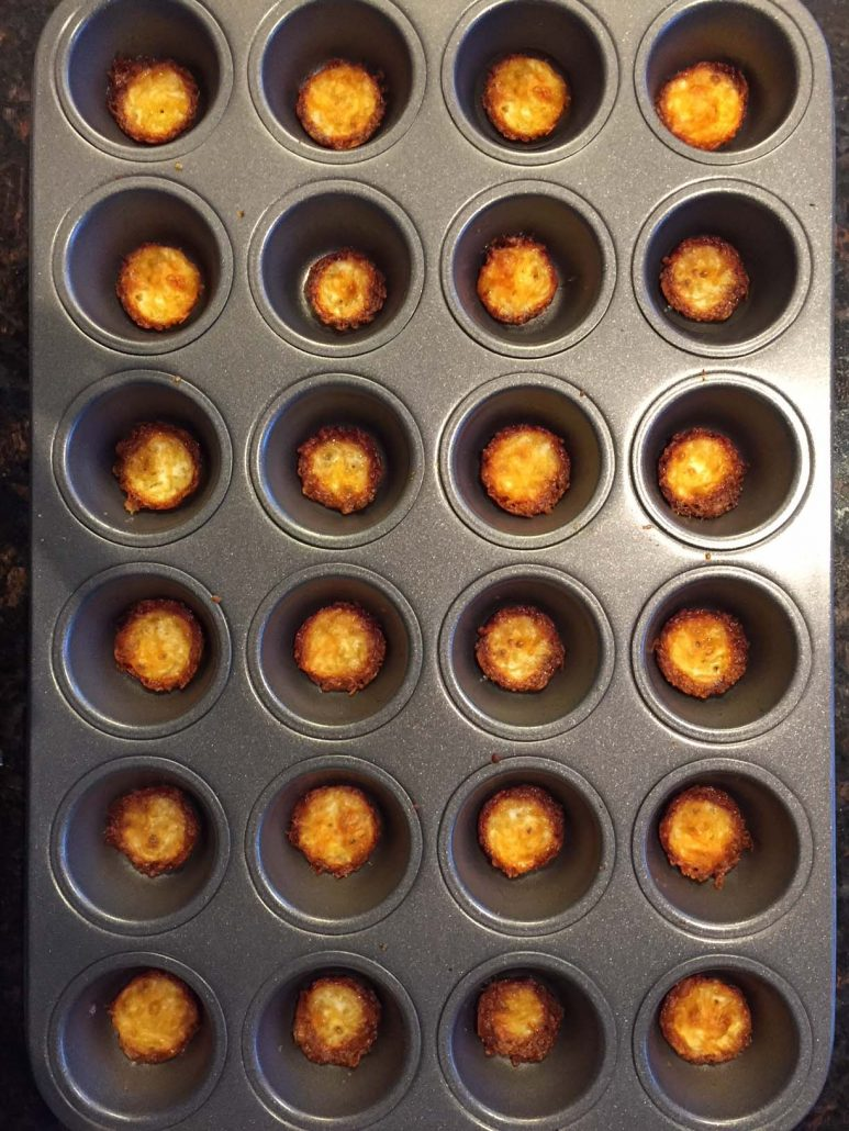 Keto Chips In Mini Muffin Tin