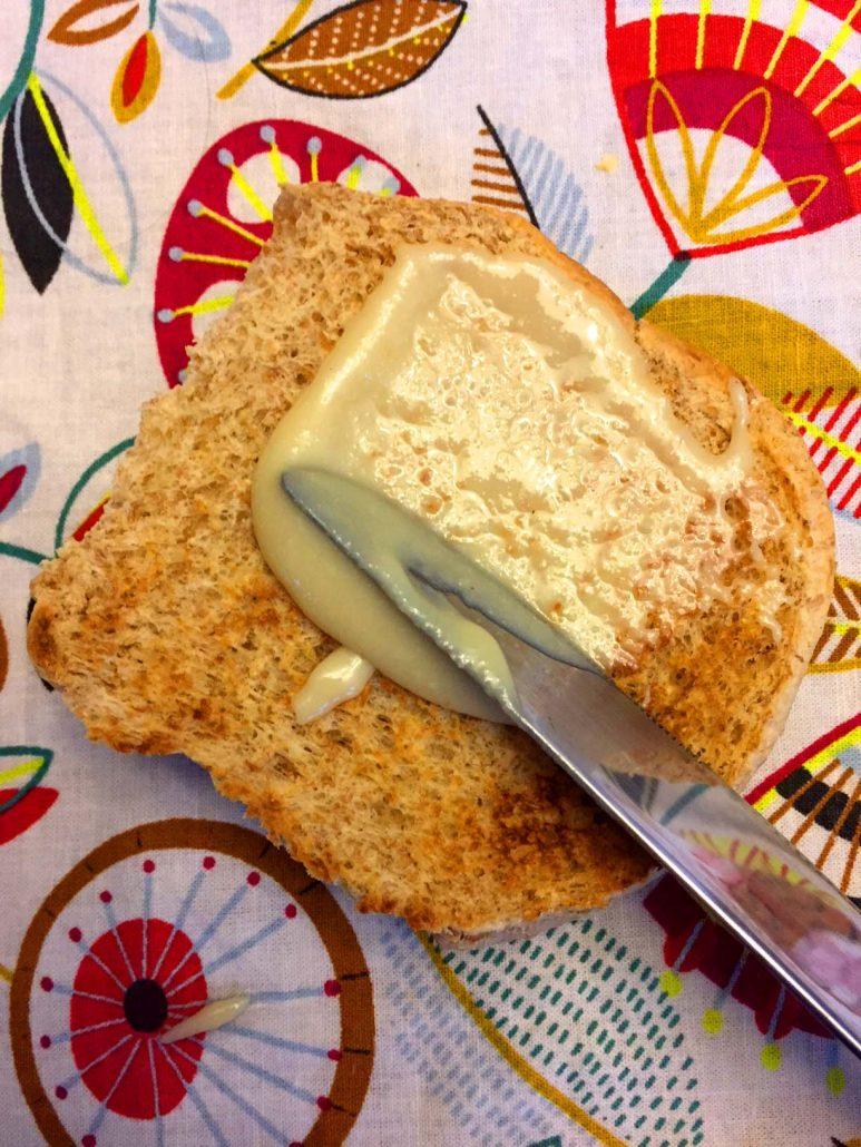 Macadamia Nut Butter Spread On Toast