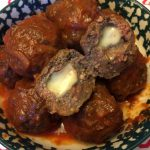 Mozzarella Cheese Stuffed Meatballs Recipe