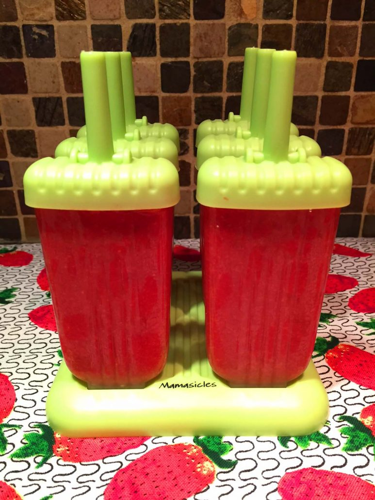 Homemade Strawberry Popsicles In Popsicle Molds