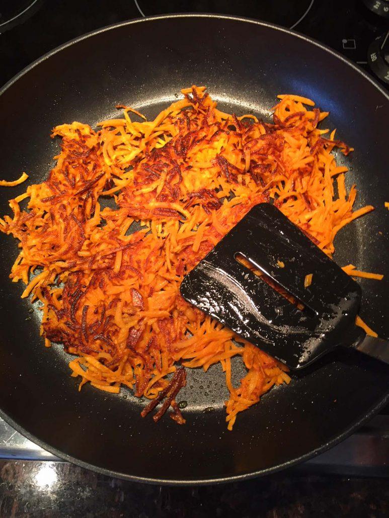 Making Sweet Potato Hash Browns