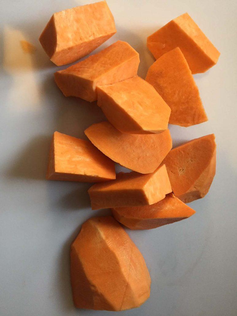Sweet Potato Cut Into Pieces