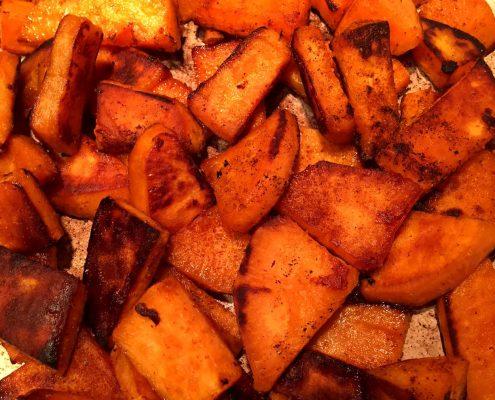 Pan Fried Sweet Potatoes