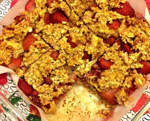 Strawberry Banana Oatmeal Squares Recipe
