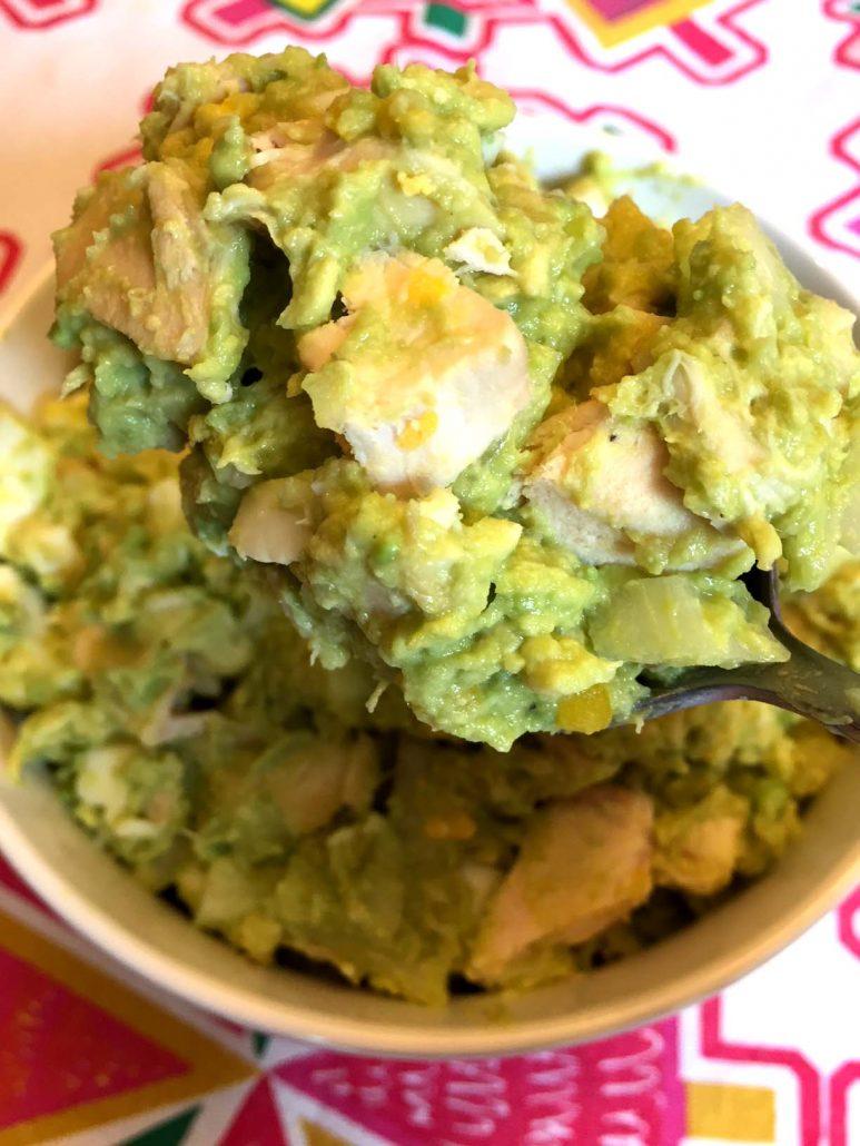 Chicken Avocado Salad With No Mayo
