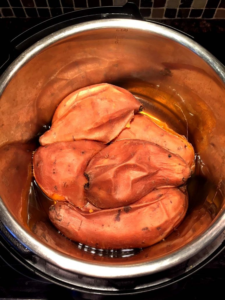 Instant Pot Cooked Whole Sweet Potatoes