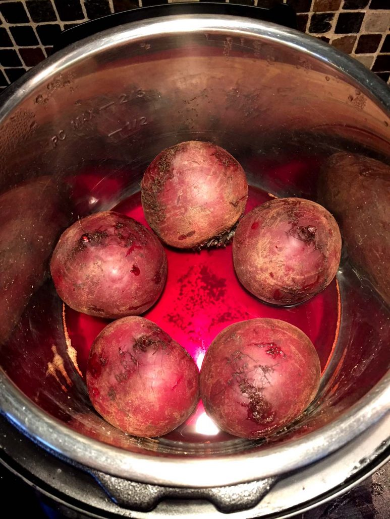 Instant Pot Cooking Whole Beets