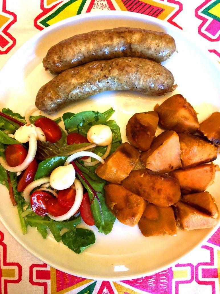 Instant Pot Sausage Sweet Potatoes Salad