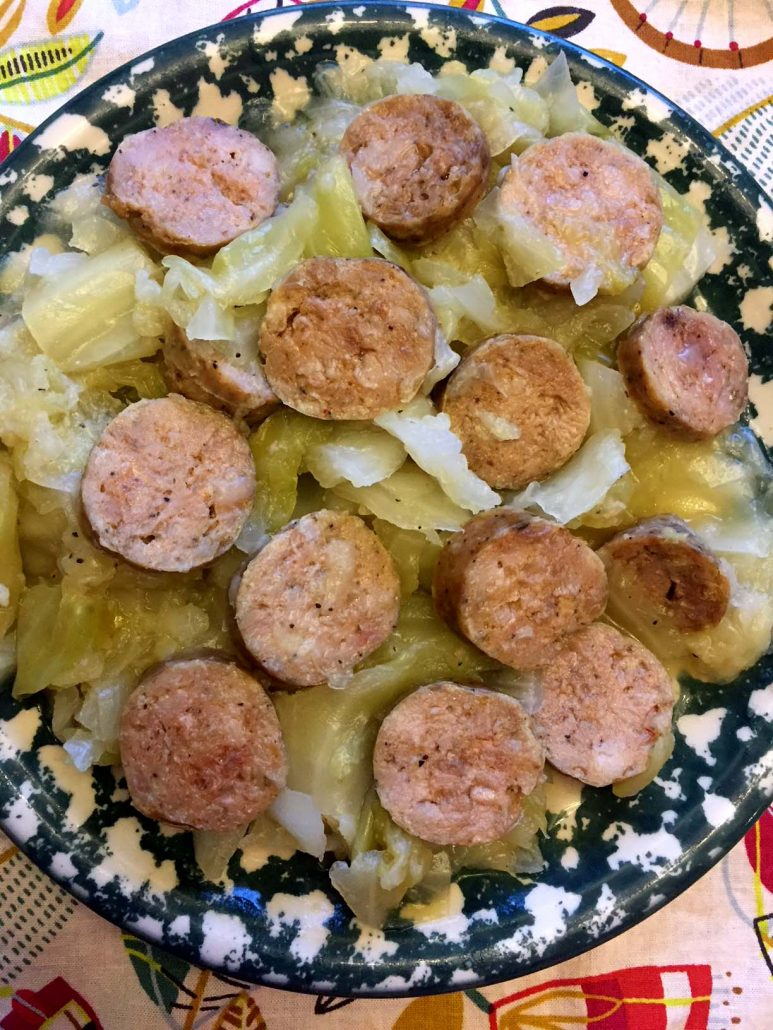 Cabbage and Kielbasa in Instant Pot