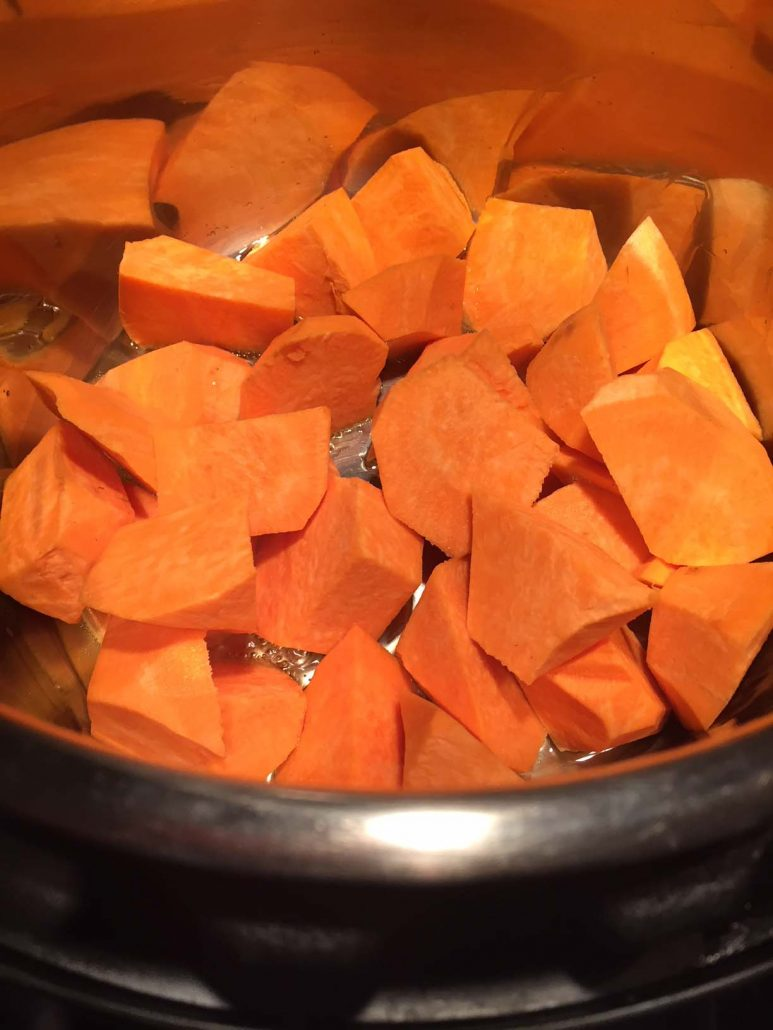 Sweet Potato Pieces In The Instant Pot