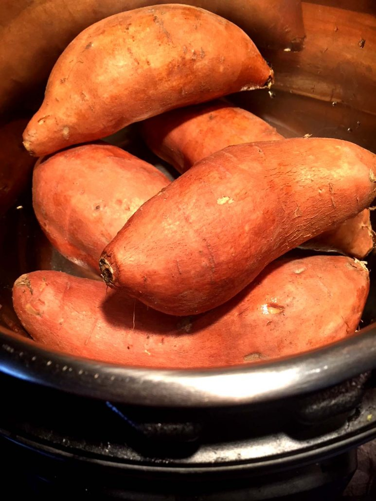 Cooking sweet potatoes in the Instant Pot