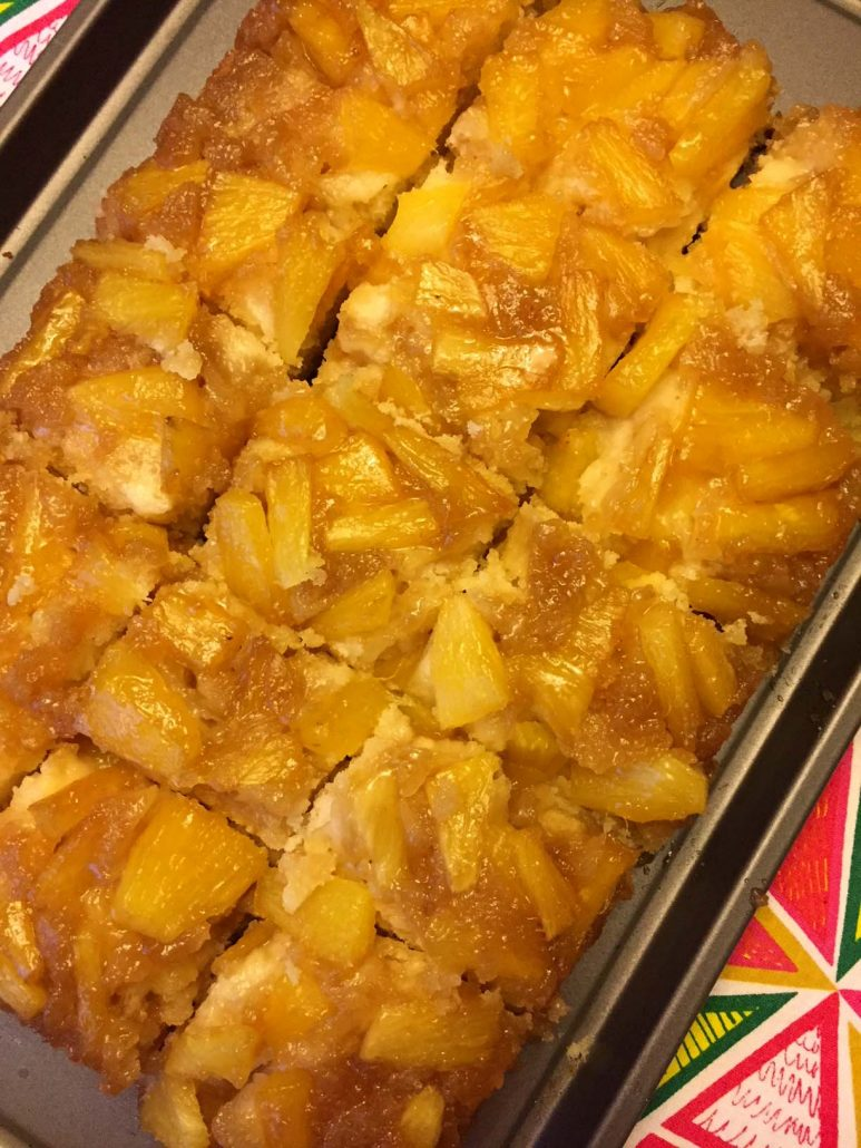 Pineapple Cake Upside-Down Squares
