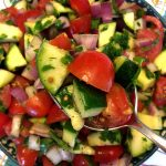 Raw Zucchini Tomato Salad Recipe