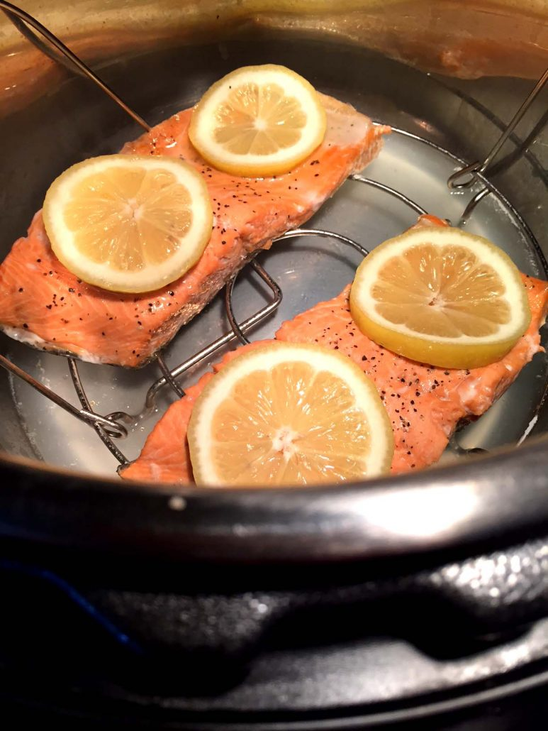 Instant Pot Lemon Salmon