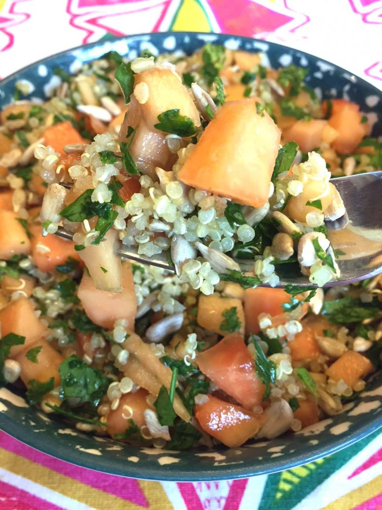 Vegan Healthy Papaya Quinoa Salad Recipe