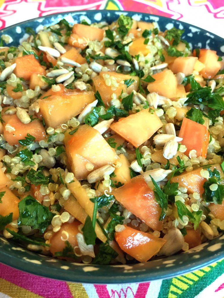 Quinoa salad with papaya