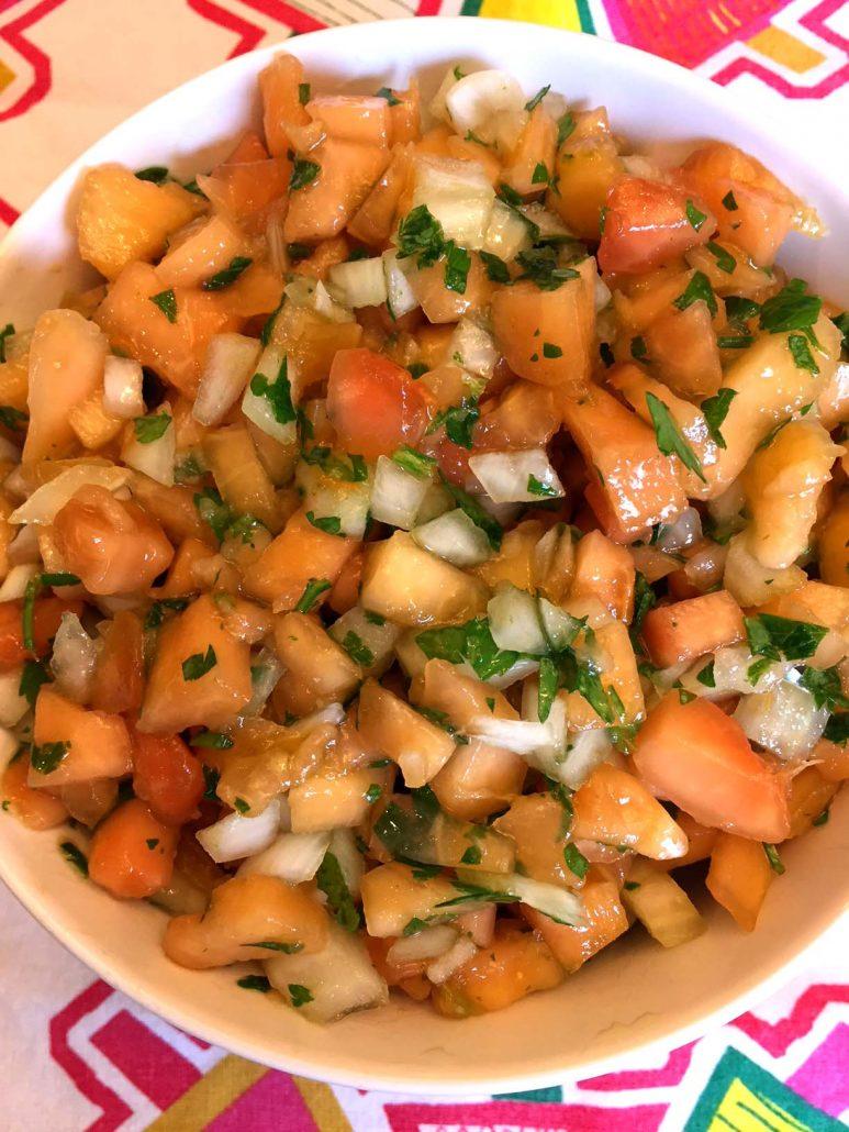 Papaya salsa recipe