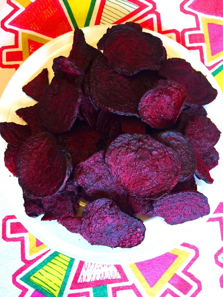 Crunchy Beet Chips