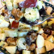 Waldorf Salad With Celery, Apple, Walnuts and Raisins