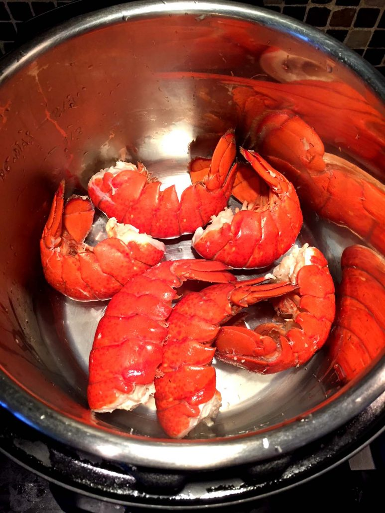 Pressure Cooker Lobster Tail