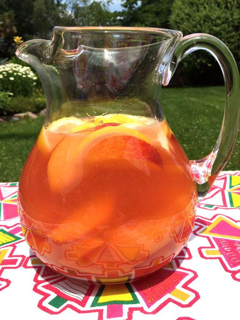 Instant Pot Peach Lemonade