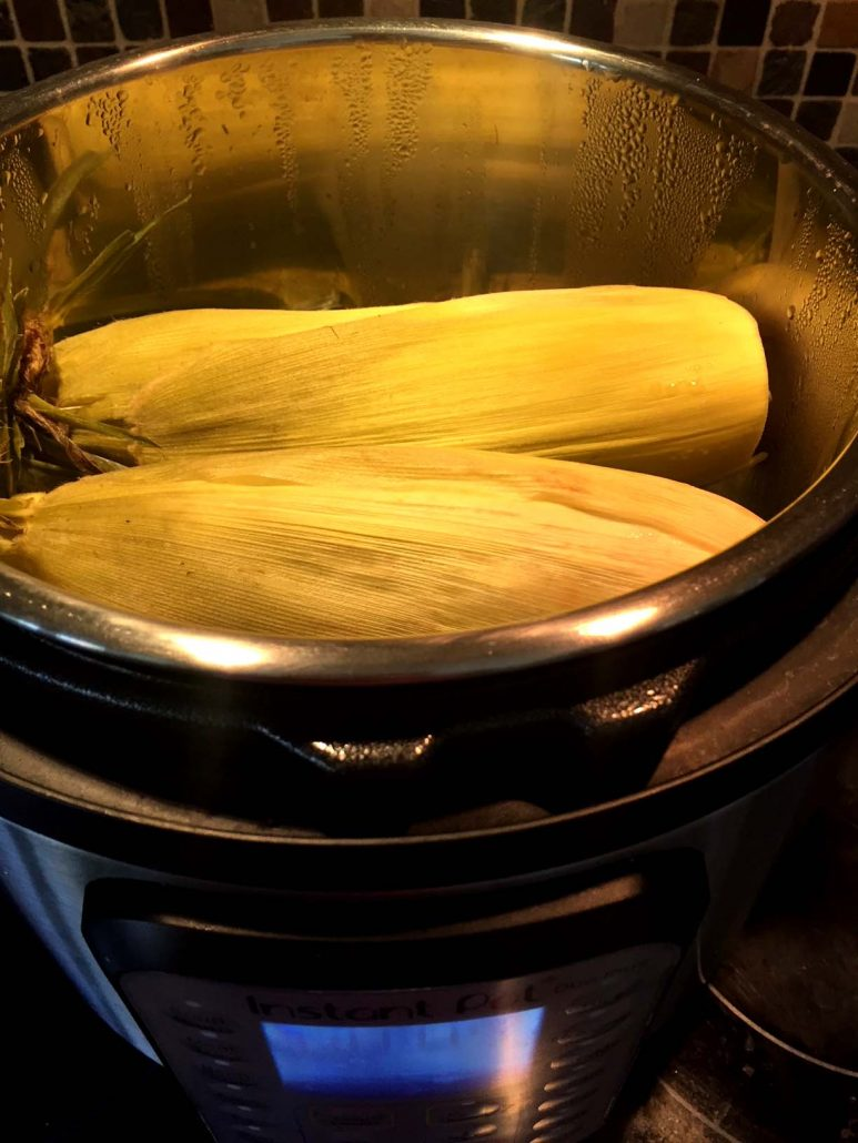Instant Pot corn on the cob in husks recipe