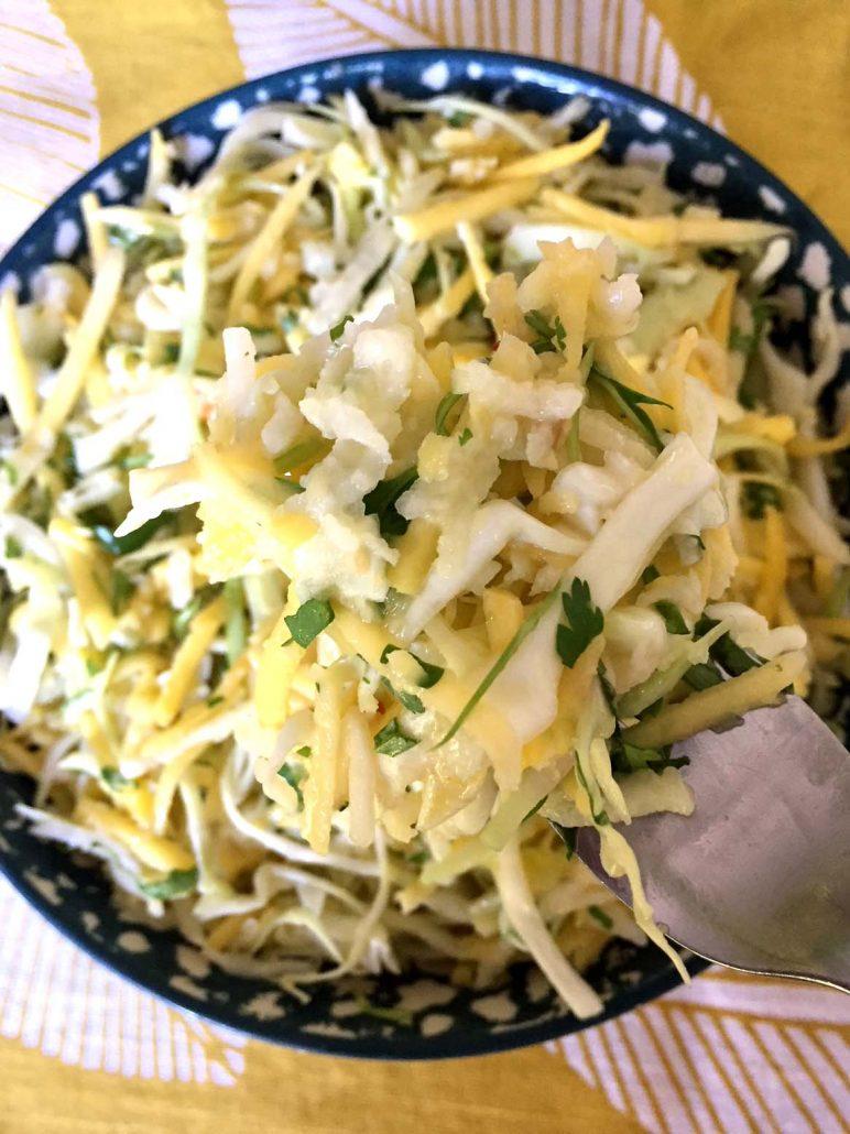 Jicama Mango Healthy Cole Slaw