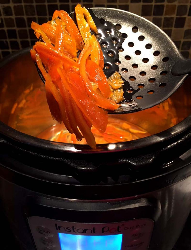 How to make candied citrus peel in Instant Pot