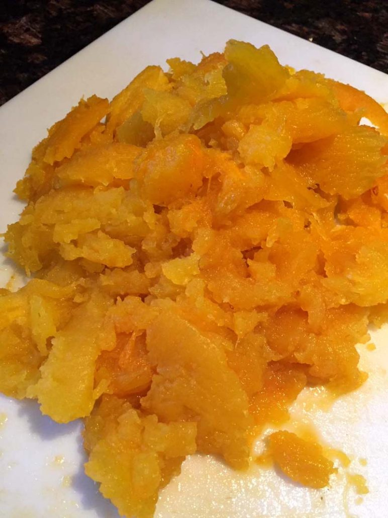 Cooked Pumpkin Flesh