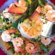 Shrimp Asparagus Quinoa Bowl